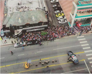 An aerial view of the Future crowd outside the Roxy. (Photo from Twitter).