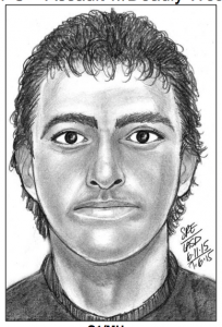 Sketch of possible assailant of Kirk Doffing