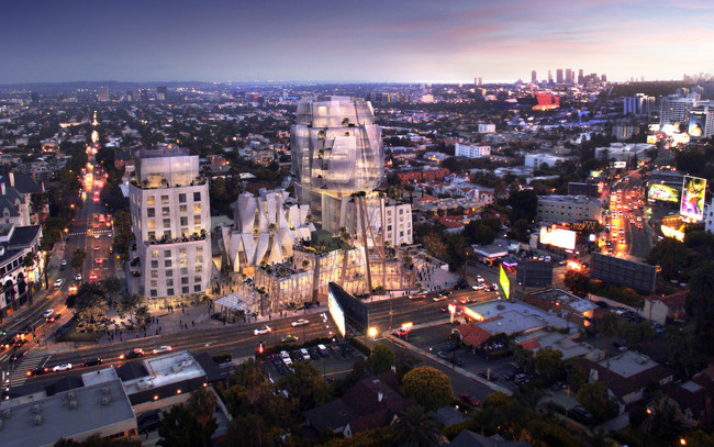 8150 Sunset Blvd. (Design by Gehry Partners. Rendering by Visualhouse)
