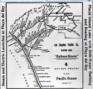 Balloon Route map. (Image Courtesy of USC Digital Library Collection)
