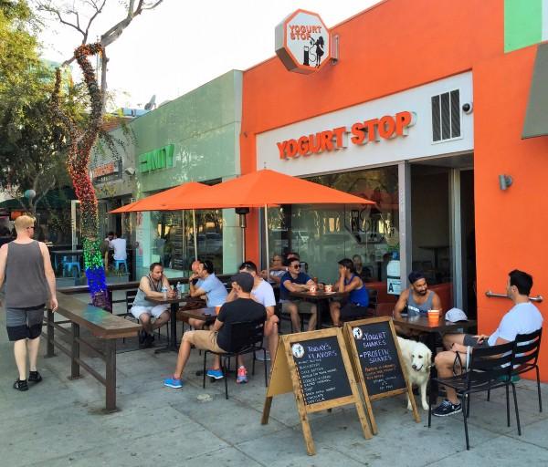 West Hollywood's Yogurt Stop on Santa Monica Boulevard.