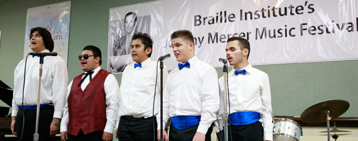 The Braille Institute's Johnny Mercer Young Men's Choir (Photo courtesy of the Braille Institute)