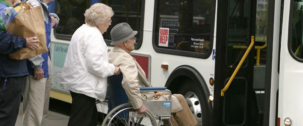 Senior on Bus