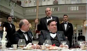 """Scene from """"The Untouchables"""" with Robert DeNiro (with baseball bat) as Al Capone. (Photo credit: WhatCulture.com)"""