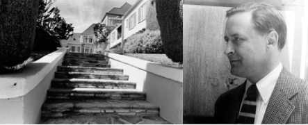 On the left: Steps leading to the apartment house at 1443 N. Hayworth, West Hollywood, where Fitzgerald died in 1940.