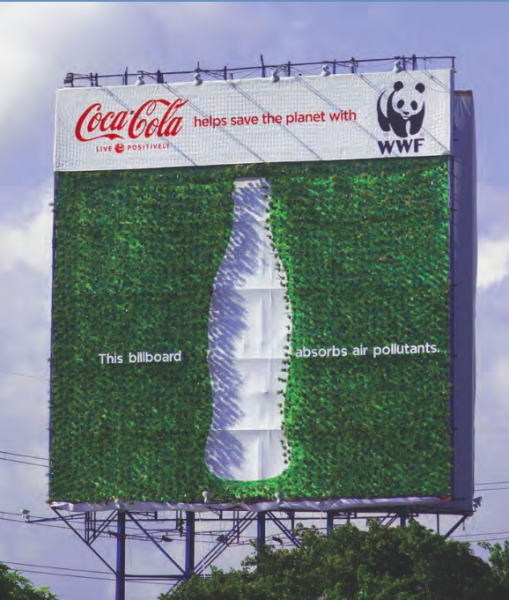 Billboard illustrating use of alternative textures and materials. (Photo courtesy of City of West Hollywood).