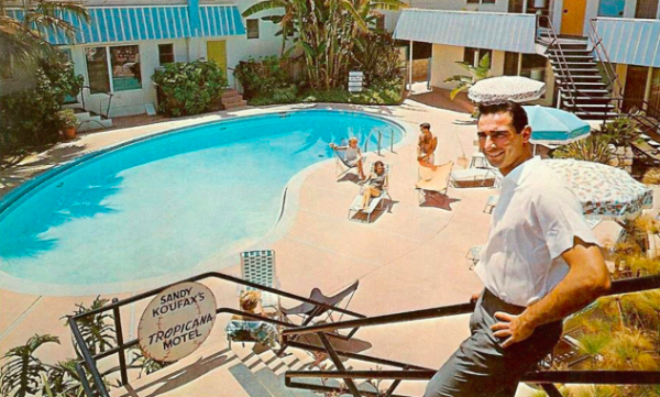 Baseball Hall of Famer Sandy Koufax used his fame to attract new clientele to his Tropicana Motel on Santa Monica Boulevard.