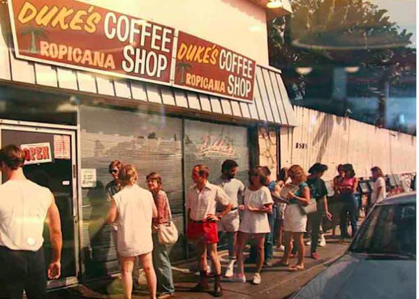 Duke's Coffee Shop at the Tropicana Motel.