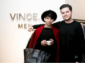Anthony Villegas, left, at a fashion event.