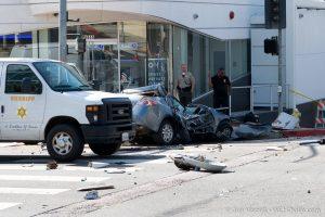 Crash on Sunset Boulevard at Larrabee (Photo by Jon Viscott)