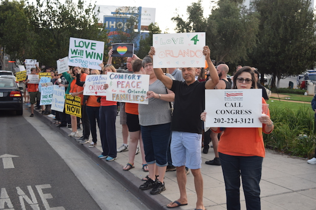 A rally by the Brady Campaign to End Gun Violence on Sunday at Sal Guarriello Park.