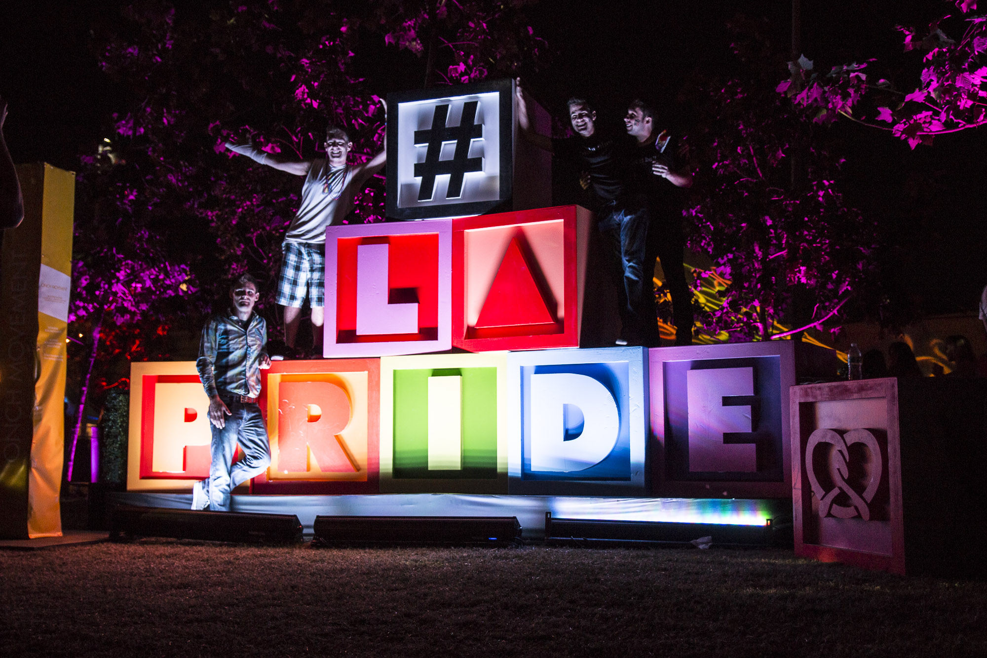 LA Pride loud and proud and bright.  (Photo by Derek Wear of Unikorn Photography)