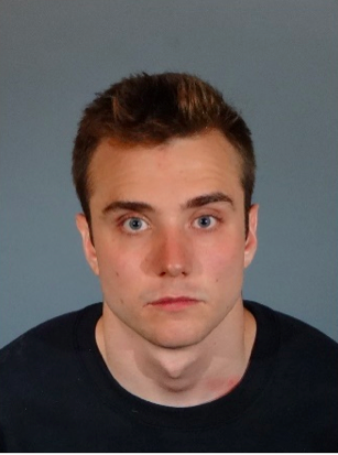 Calum McSwiggen in a photo taken at the West Hollywood Sheriff's Station after he was booked and before he assaulted himself. (Photo courtesy of the Los Angeles Sheriff's Department)
