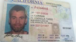 Abdulla Tario Camran's driver's license, found in the dumpster that contained Joie Kinney's body