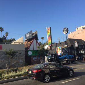 Billboard above Rainbow Bar and Grill