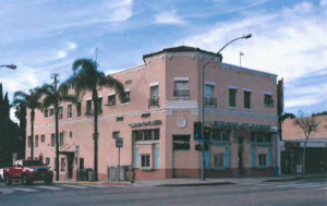 1053 La Jolla Ave. is a two-story commercial building in the 20th Century Commercial style with Spanish Colonial Revival influences built in 1925 by Marie Harlan Prevost as a mixed-use commercial building. Since 1970, the building has been occupied by Circus of Books, originally called Book Circus. The store has been supplying West Hollywood residents with magazines, books and newspapers from around the world. Circus is best known for the adult DVDs, magazines and toys catering to the gay community. Before porn went digital, the store stood as a gay cruising mecca.