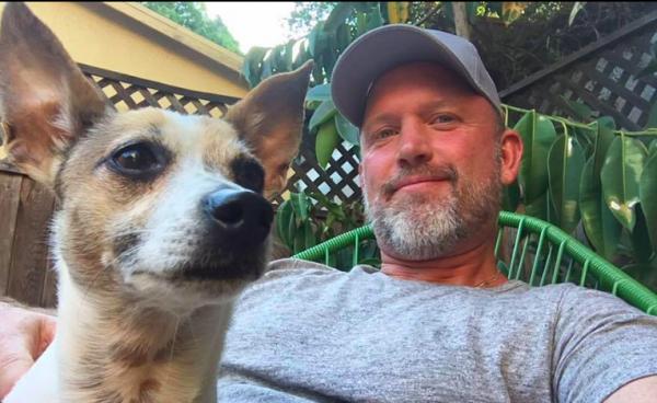 Chris Rolczynski with Frankie (Facebook)