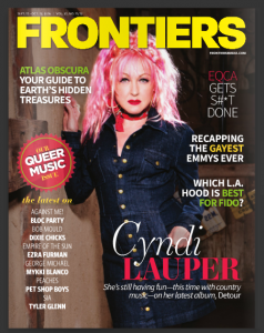 The cover of the latest issue of Frontiers magazine, which never made it off the press.