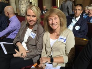 West Hollywood Mayor Lauren Meister (right) and Community Development Director Stephanie deWolfe (left)