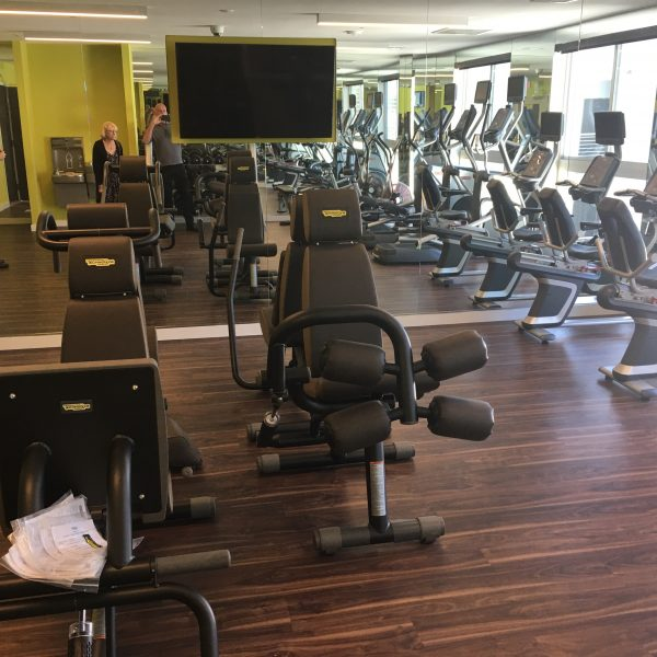 The exercise room at Movietown Square.