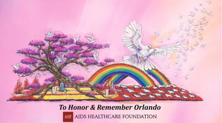 AHF Orlando Rose Parade Float