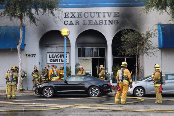 Fairfax County Car Tax >> Firefighters Tackle Blaze on Santa Monica Blvd. at Ogden ...