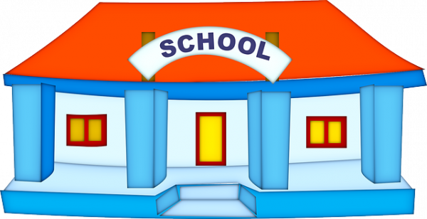 30 Gambar Kartun Bangunan Sekolah Kumpulan Kartun Hd
