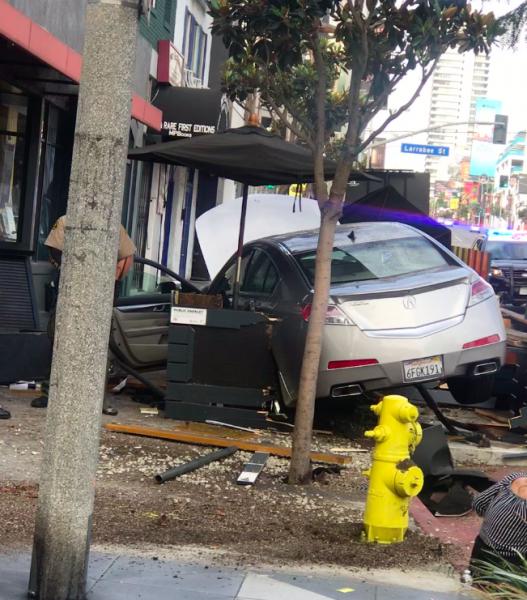 parklet, car crash