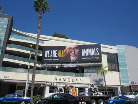 The We Are Animals image on an Outfront Media billboard on Sunset Boulevard.